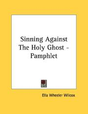Cover of: Sinning Against The Holy Ghost - Pamphlet