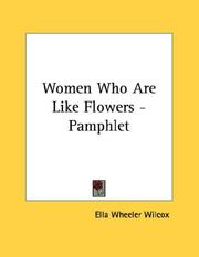 Cover of: Women Who Are Like Flowers - Pamphlet