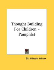 Cover of: Thought Building For Children - Pamphlet