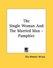 Cover of: The Single Woman And The Married Man - Pamphlet