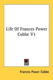 Cover of: Life Of Frances Power Cobbe V1