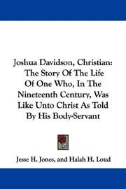 Cover of: Joshua Davidson, Christian | Jesse H. Jones