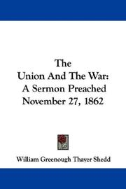 Cover of: The Union and the war