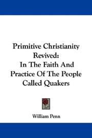 Cover of: Primitive Christianity revived