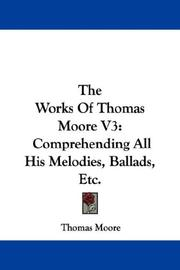 The Works Of Thomas Moore V3