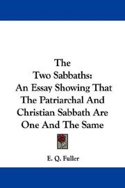 Cover of: The Two Sabbaths