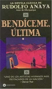 Cover of: Bendiceme Ultima