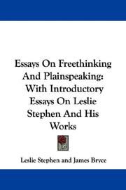 Cover of: Essays on Freethinking and Plainspeaking