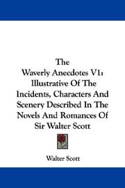 Cover of: The Waverly Anecdotes V1 | Sir Walter Scott