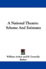 Cover of: A National Theatre | William Archer