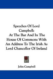 Cover of: Speeches Of Lord Campbell | John Campbell