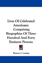 Cover of: Lives Of Celebrated Americans