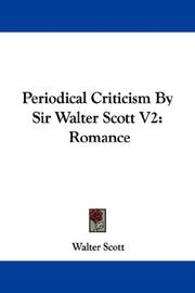 Cover of: Periodical Criticism By Sir Walter Scott V2 | Sir Walter Scott