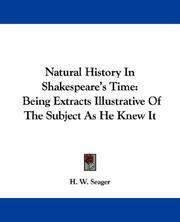 Cover of: Natural History In Shakespeare