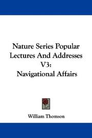 Cover of: Nature Series Popular Lectures And Addresses V3