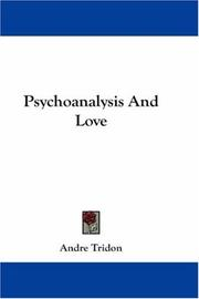 Cover of: Psychoanalysis And Love | Andre Tridon