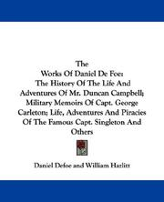 Cover of: The works of Daniel Defoe