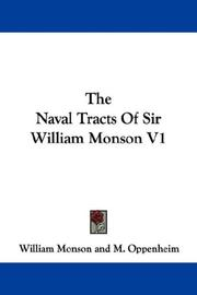 Cover of: The Naval Tracts Of Sir William Monson V1 | William Monson