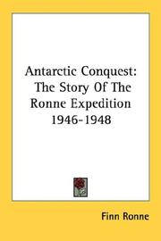 Cover of: Antarctic Conquest | Finn Ronne
