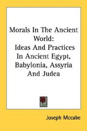 Cover of: Morals In The Ancient World | Joseph Mccabe