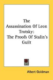 Cover of: The assassination of Leon Trotsky