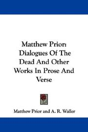 Cover of: Matthew Prior