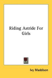 Cover of: Riding Astride For Girls