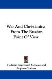 Cover of: War And Christianity