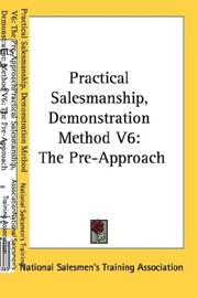 Cover of: Practical Salesmanship, Demonstration Method V6 | National Salesmen