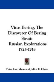 Cover of: Vitus Bering, The Discoverer Of Bering Strait | Peter Lauridsen