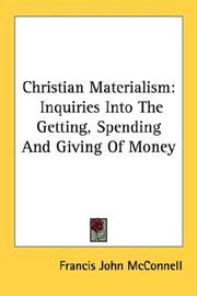 Cover of: Christian Materialism | Francis John McConnell