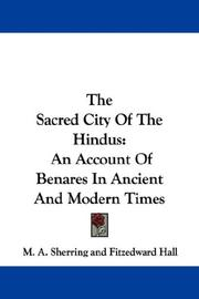 Cover of: The Sacred City Of The Hindus