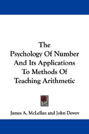 Cover of: The Psychology Of Number And Its Applications To Methods Of Teaching Arithmetic