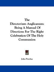 The directorium anglicanum by John Purchas