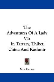 Cover of: The Adventures Of A Lady V1 | Mrs. Hervey