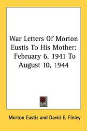 Cover of: War Letters Of Morton Eustis To His Mother | Morton Eustis