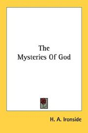 Cover of: The mysteries of God