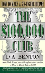 Cover of: The $100,000 Club | D. A. Benton