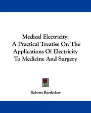 Cover of: Medical Electricity | Roberts Bartholow
