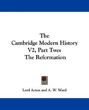 Cover of: The Cambridge Modern History V2, Part Two | Lord Acton