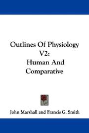 Cover of: Outlines Of Physiology V2: Human And Comparative