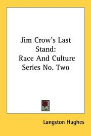 Cover of: Jim Crow's last stand: Race And Culture Series No. Two (Race and Culture Series)