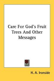 Cover of: Care For God