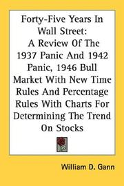 Cover of: Forty-Five Years In Wall Street | William D. Gann