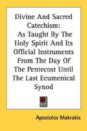 Cover of: Divine And Sacred Catechism