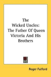Cover of: The wicked uncles