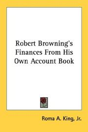 Robert Brownings Finances From His Own Account Book