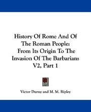 Cover of: History Of Rome And Of The Roman People | Victor Duruy