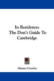 Cover of: In Residence