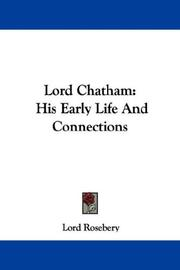 Cover of: Lord Chatham